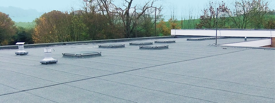 Felt roof by Newbury Roofing at Downs School.